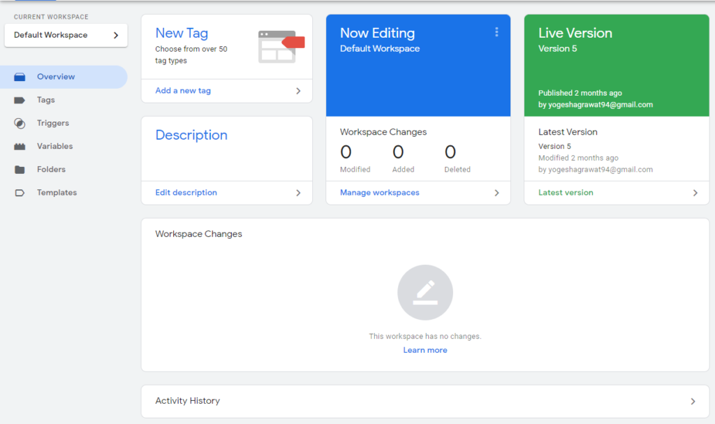 Overview of Google tag manager